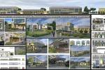 Оформление фасадов университета