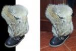 Обтравка ботинка с мехом