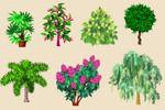 Деревья, Цветочная Усадьба