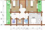 План-схема дома. Второй этаж.