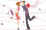 «Влюбленные», векторный рисунок