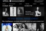 Сайт модельного агентства, 2013 г.