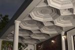 Кесонный потолок на террасе частного дома