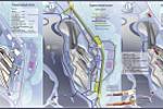 """Концепт-проект """"Экстрим-парк"""". Схема горнолыжного склона"""