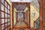 Коттедж в Нахабино. Эскиз прихожей. 2006 г.