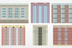 Разработка текстур фасадов зданий