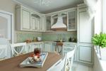 Дизайн и визуализация кухни в стиле Прованс