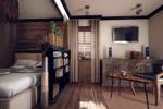 Интерьер малогабаритной квартиры в колониальном стиле