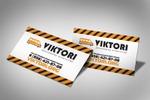 Визитка для рекламного агентства VICTORI