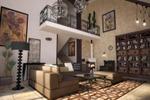 Интерьер гостиной частного дома