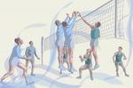 ВолейболистыЭскиз