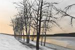 зима...закат