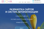 Одностраничник компании по ведению интернет-проектов, 2013 г.