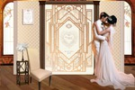 Press Wall стенд для свадьбы в стиле art deco