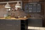 Визуализация кухни Икея, стиль лофт 2