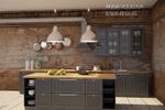 Визуализация кухни Икея, стиль лофт 3