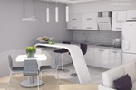 Светлая кухня-гостиная 1