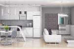 Светлая кухня-гостиная 3