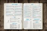 Дизайн  меню (в рамках фир.стиля кафе)