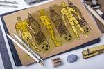 Эскизы для разработки песчанной скульптуры в торговом центре