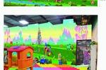 Дизайн фриза и стен детской игровой в торговом центре.