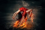Танец с огнем (фотоманипуляция)