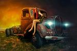 Old car (фотоманипуляция)