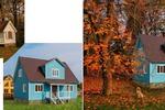 коллаж для сайта продажи домов(перенос объекта на другой фон)