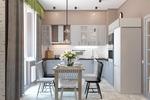 Дизайн и визуализация кухни.