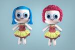 модель вязаной куклы (создана по фотографиям заказчика)