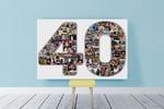 Разработка фото-коллажа на юбилей на память