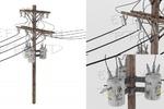 Состаренный электрический столб
