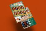 Обложка и под-обложка для рекламного журнала-блокнота