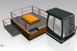 Перила и защитная сетка для спецтехники ATLAS 350 MH