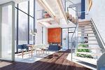 Интерьер двусветной гостиной-столовой