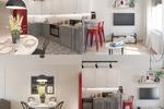 Дизайн кухни-гостиной с элементами стиля Лофт
