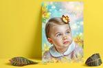 Худ обработка детского портрета с отрисовкой