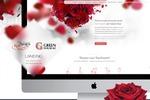 Лендинг для 2х компаний, продающих розы из Казахстана