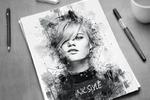 Ink style art (портрет)