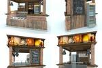 Дизайн точки по продаже разливного пива и снеков