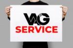 """Логотип для автомастерской """"Vag Service"""""""