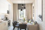 Дизайн кухни в квартире 35 кв.м.