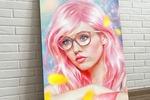 Pink girl (digital art)