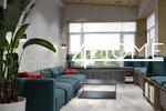 Дизайн-проект дома площадью 600 кв.м. (терраса)