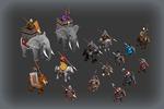 Ассет персонажей для игры в жанре RTS