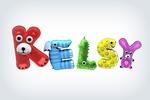 Анимированный 3d логотип для интернет-магазина детских игрушек