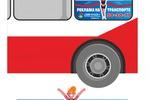Дизайн промо-стикера для размещения на общественном транспорте