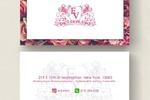 Двусторонняя визитка. Beauty salon