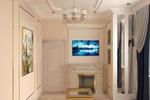 Дизайн-визуализация меленькой гостиной
