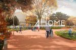 Разработка 3D визуализации экстерьера площадки для отдыха пожилы